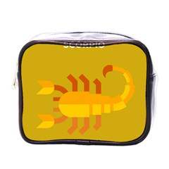 Animals Scorpio Zodiac Orange Yellow Mini Toiletries Bags