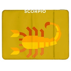 Animals Scorpio Zodiac Orange Yellow Samsung Galaxy Tab 7  P1000 Flip Case