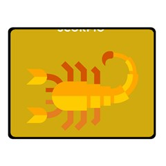 Animals Scorpio Zodiac Orange Yellow Double Sided Fleece Blanket (small)