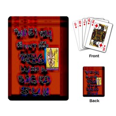 Big Red Sun Walin 72 Playing Card by MRTACPANS