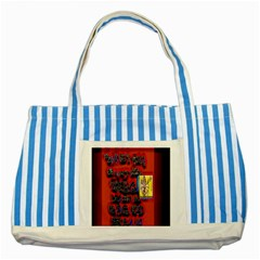 Big Red Sun Walin 72 Striped Blue Tote Bag by MRTACPANS