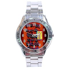 Big Red Sun Walin 72 Stainless Steel Analogue Watch by MRTACPANS