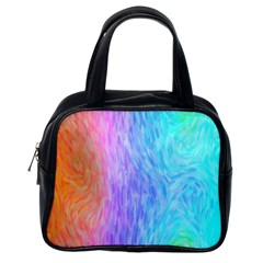 Abstract Color Pattern Textures Colouring Classic Handbags (one Side) by Simbadda