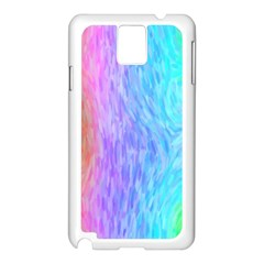 Abstract Color Pattern Textures Colouring Samsung Galaxy Note 3 N9005 Case (white)
