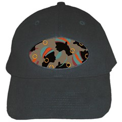 African Women Ethnic Pattern Black Cap