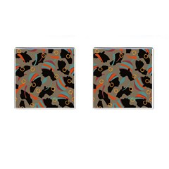 African Women Ethnic Pattern Cufflinks (square) by Simbadda