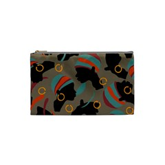 African Women Ethnic Pattern Cosmetic Bag (small)