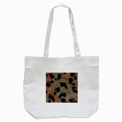 African Women Ethnic Pattern Tote Bag (white)