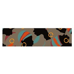 African Women Ethnic Pattern Satin Scarf (oblong)