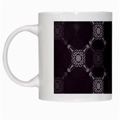 Abstract Seamless Pattern White Mugs
