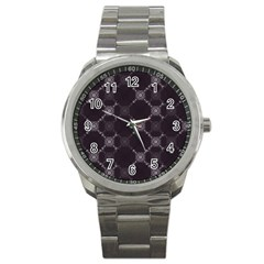 Abstract Seamless Pattern Sport Metal Watch