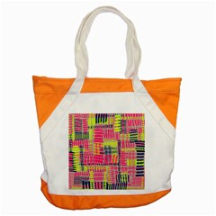 Abstract Pattern Accent Tote Bag by Simbadda