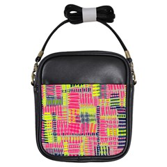 Abstract Pattern Girls Sling Bags by Simbadda