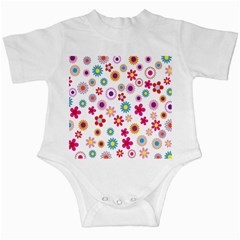 Colorful Floral Flowers Pattern Infant Creepers