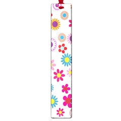 Colorful Floral Flowers Pattern Large Book Marks