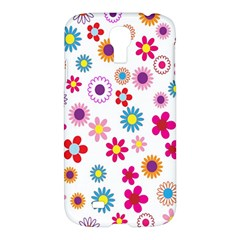 Colorful Floral Flowers Pattern Samsung Galaxy S4 I9500/i9505 Hardshell Case by Simbadda