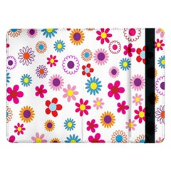 Colorful Floral Flowers Pattern Samsung Galaxy Tab Pro 12 2  Flip Case