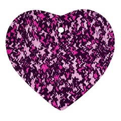 Chic Camouflage Colorful Background Ornament (heart) by Simbadda