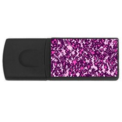 Chic Camouflage Colorful Background Usb Flash Drive Rectangular (4 Gb) by Simbadda