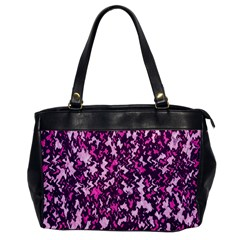 Chic Camouflage Colorful Background Office Handbags