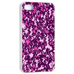 Chic Camouflage Colorful Background Apple Iphone 4/4s Seamless Case (white) by Simbadda
