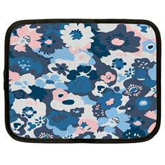 Fabric Wildflower Bluebird Netbook Case (xl)