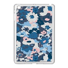 Fabric Wildflower Bluebird Apple Ipad Mini Case (white)