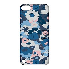 Fabric Wildflower Bluebird Apple Ipod Touch 5 Hardshell Case With Stand by Simbadda