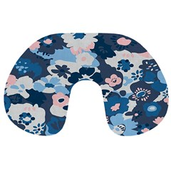 Fabric Wildflower Bluebird Travel Neck Pillows