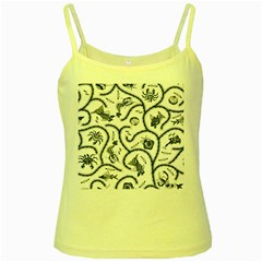 Fish Pattern Yellow Spaghetti Tank