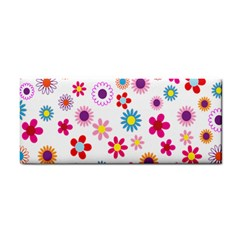 Colorful Floral Flowers Pattern Cosmetic Storage Cases by Simbadda