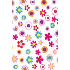 Colorful Floral Flowers Pattern 5 5  X 8 5  Notebooks by Simbadda