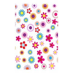 Colorful Floral Flowers Pattern Shower Curtain 48  X 72  (small)  by Simbadda