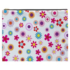 Colorful Floral Flowers Pattern Cosmetic Bag (xxxl)