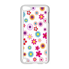 Colorful Floral Flowers Pattern Apple Ipod Touch 5 Case (white) by Simbadda