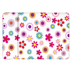Colorful Floral Flowers Pattern Samsung Galaxy Tab 8 9  P7300 Flip Case