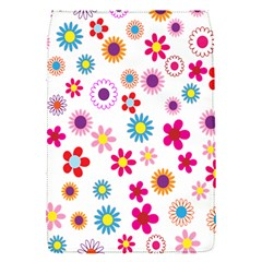 Colorful Floral Flowers Pattern Flap Covers (s)  by Simbadda