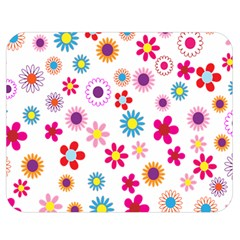 Colorful Floral Flowers Pattern Double Sided Flano Blanket (medium)  by Simbadda