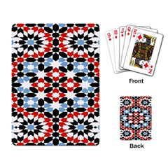 Morrocan Fez Pattern Arabic Geometrical Playing Card by Simbadda