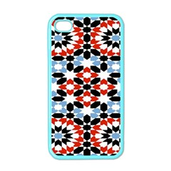 Morrocan Fez Pattern Arabic Geometrical Apple Iphone 4 Case (color) by Simbadda