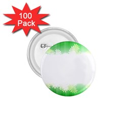 Green Floral Stripe Background 1 75  Buttons (100 Pack)