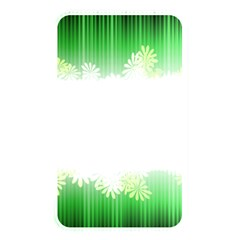 Green Floral Stripe Background Memory Card Reader by Simbadda