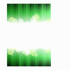 Green Floral Stripe Background Large Garden Flag (two Sides) by Simbadda