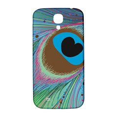 Peacock Feather Lines Background Samsung Galaxy S4 I9500/i9505  Hardshell Back Case