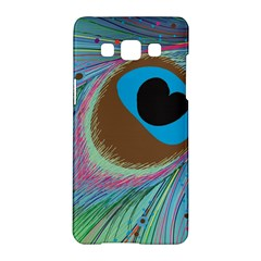 Peacock Feather Lines Background Samsung Galaxy A5 Hardshell Case