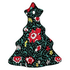 Vintage Floral Wallpaper Background Ornament (christmas Tree)