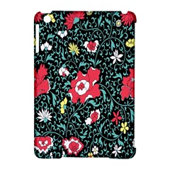 Vintage Floral Wallpaper Background Apple Ipad Mini Hardshell Case (compatible With Smart Cover)