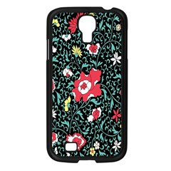 Vintage Floral Wallpaper Background Samsung Galaxy S4 I9500/ I9505 Case (black) by Simbadda