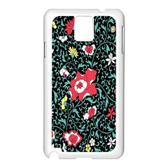 Vintage Floral Wallpaper Background Samsung Galaxy Note 3 N9005 Case (white)