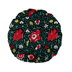 Vintage Floral Wallpaper Background Standard 15  Premium Flano Round Cushions by Simbadda